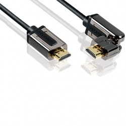 profigold prol1802 cable hdmi / hdmi pivotant 2 metres  1.4 high speed avec ethernet