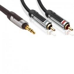 profigold proa3401 cable 2 rca male / 1 jack 3.5 male 1 metre