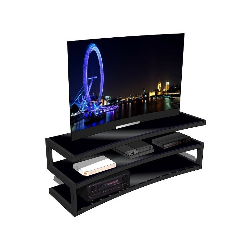 Norstone esse curve meuble tv vid o meubles a v for Meuble tv stone but