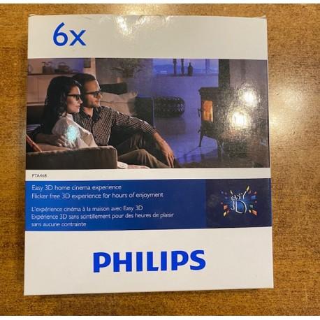 PHILIPS PTA 468 3d Lunettes 6 x Pièce