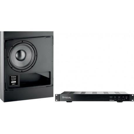 Focal 100 IWSUB8 + 100 IWSUB8 Amplifier Caissons de basses encastrables