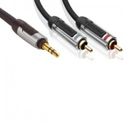 profigold proa3402 cable 2 rca male / 1 jack 3.5 male 2 metres