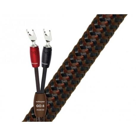 Audioquest Go-4 fourches ou bananes (la paire) câbles enceintes premontés
