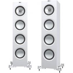 kef q750 blanc enceintes colonnes la paire